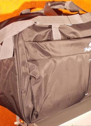Сумка дорожная спортивная feifanlituo 128 темно-коричневая