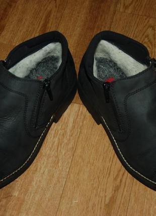 Кожаные ботинки на шерсти 45 р rieker хорошее состояние