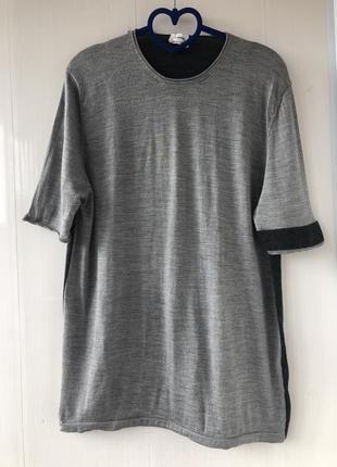 Jil sander! облегчённый джемпер футболка блуза свитшот,шерсть и натуральный шёлк, шелк