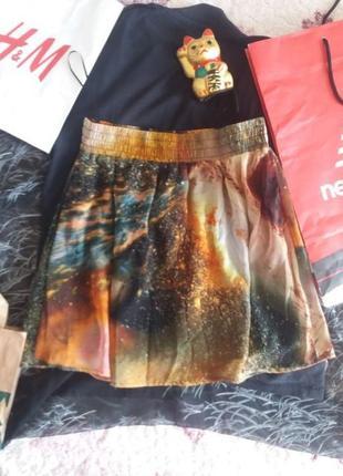 Продам юбку с космическим принтом