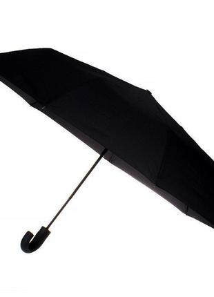 Зонт-автомат с ручкой-крюком черный