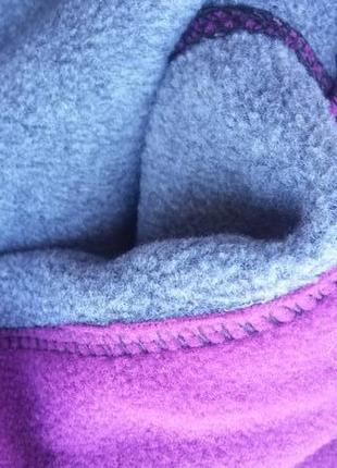 Зимняя теплая флисовая балаклава капюшон снуд, бафф для туризма и спорта5 фото