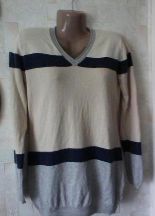 Кашемировый с шелком джемпер свитер,шелк и кашемир от adagio, размер 48-50