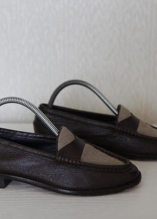 Стильные кожаные лоферы туфли от massimo dutti p.36-37