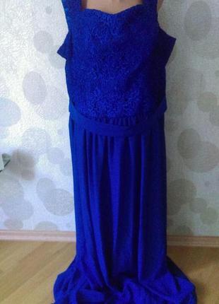 Шикарное длинное вечернее платье  большого размера