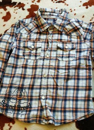 Рубашка осень утепленные рукава на  кнопках