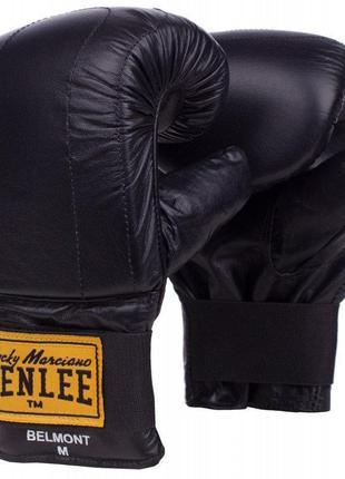 Перчатки снарядные натуральная кожа belmont benlee (195032, черный)