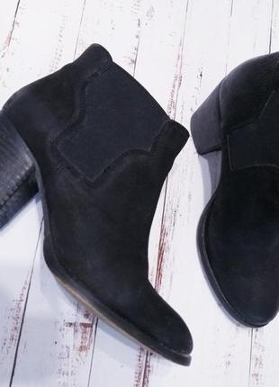 Осенние ботинки из шлифованой кожи