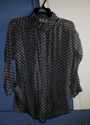 Рубашка блуза 100% шифон от mango