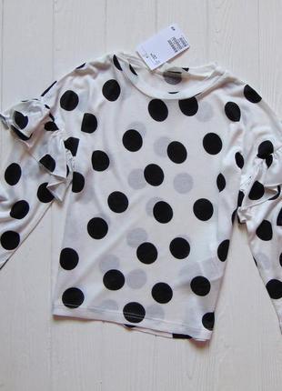 H&m. размер 4-6 лет. новая яркая блуза-реглан для девочки