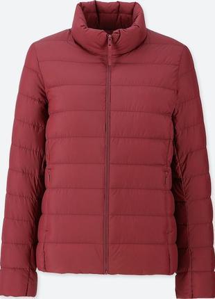 Легкая куртка на пуху от uniqlo. размер s