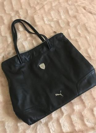 Кожаная сумка спортивная сумка  puma ferrari