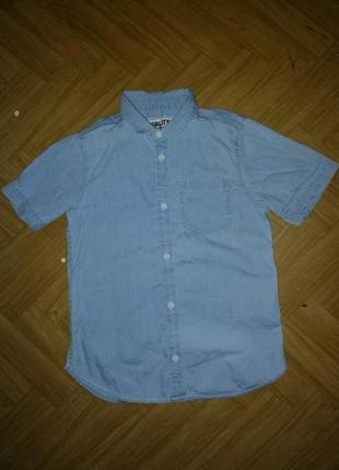 Рубашка,тенниска джинсовая