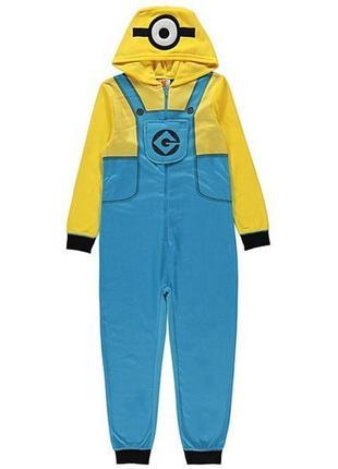 Миньон слип кигуруми человечек пижама 8-9 лет1 фото