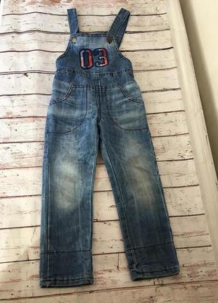 Комбинезон джинсовый для мальчика глория джинс gee jay