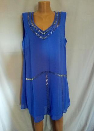 Распродажа! шикарная шифоновая блуза, туника на подкладке   №2bp