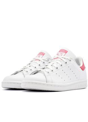 Оригинальные кожаные кроссовки adidas stan smith