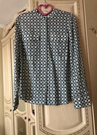 Стильная блузка рубаха, рубашка блуза, хлопок, оригинал tory burch