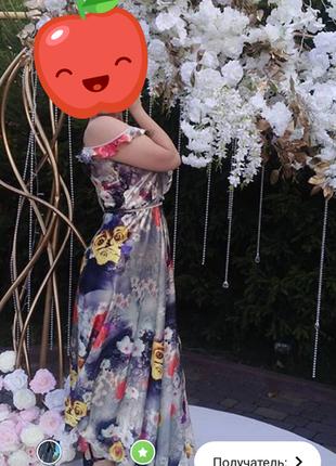 Платье в пол на запах