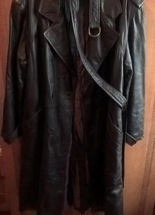 Пальто-кожаный плащ daniel hechter (натуральная кожа)