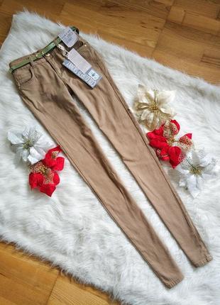 Трендові нові штаны брюки skinny primark нюдового кольору