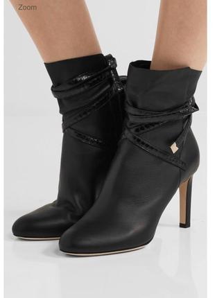 Шикарные осенние туфли ботильоны на каблуке оригинал коллекция 2018 года.