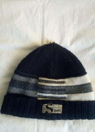 Теплая зимняя шапка для мальчика