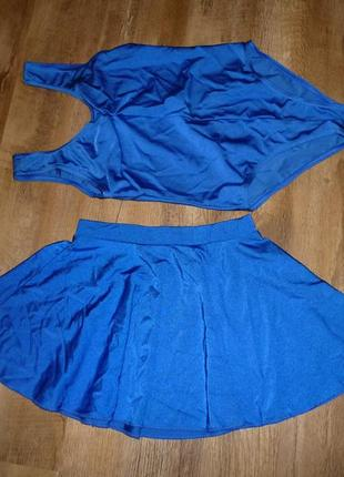 Гимнастический костюм, трико, купальник и юбка