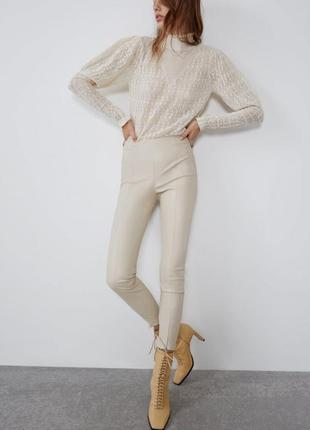 Кожаные штаны zara2 фото