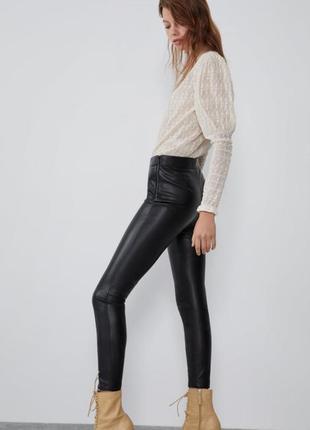Кожаные штаны zara7 фото
