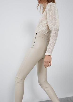 Кожаные штаны zara6 фото