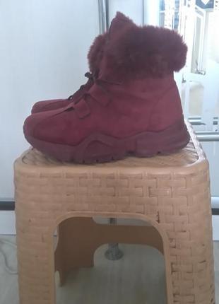 Ботинки кроссовки теплые