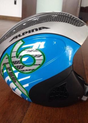 Горнолыжный шлем alpina детский-подростковый р. 51-55 (регулируется)