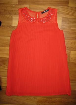 Легкое платье-плиссе george на 5-6 лет