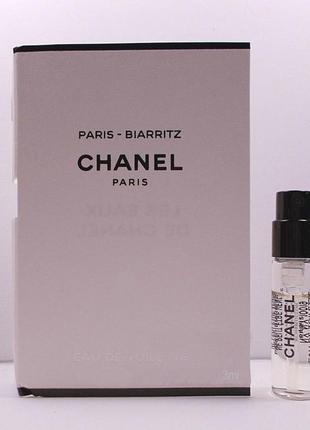 Chanel paris biarritz_original_eau de  toilette 3 мл затест_туал.вода