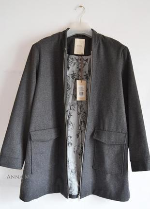 Пальто плащ куртка на молнии оверсайз трапеция
