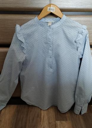 Модная блуза в горошек