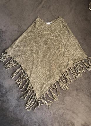 Новый кейп пончо накидка свитер yessica
