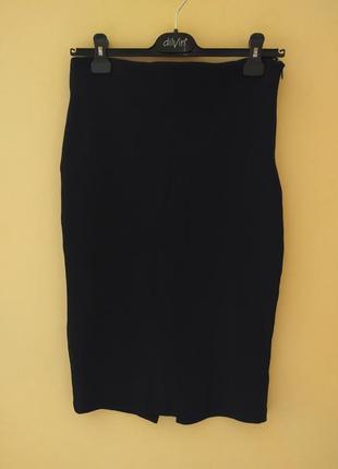 Базовая юбка карандаш черная резинка