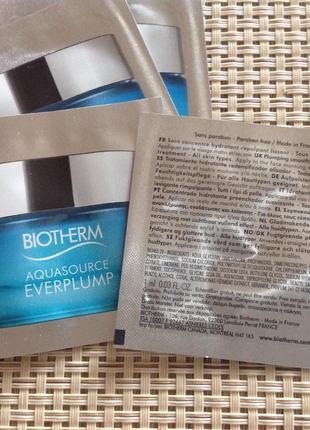 Пробники крема biotherm aquasource everplump саше крем уход