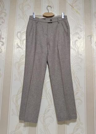 Офисные теплые брюки, в составе шерсть, шелк.