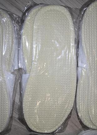 Тапочки белые 8 пар шлепки одноразовые