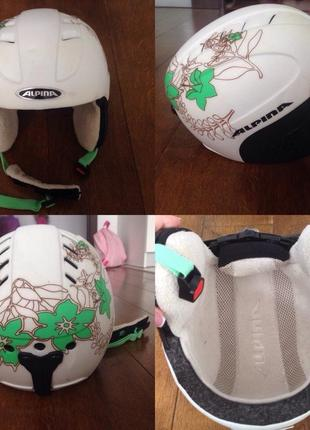 Горнолыжный шлем alpina детский-подростковый р. 51-55