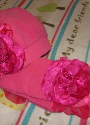 Комплект шапка берет и шарф 2-3-4 года