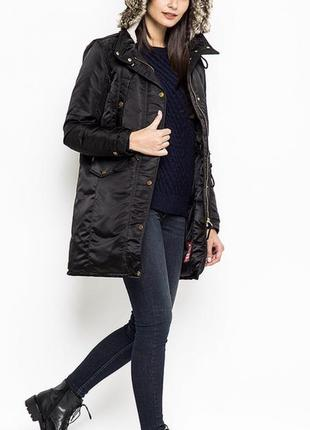 Брендовое пальто/парка-пуховик levi's размер м