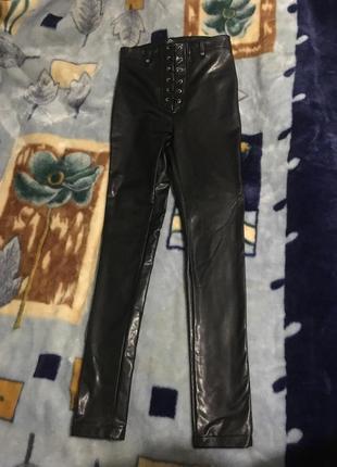 Женские брюки из эко кожи