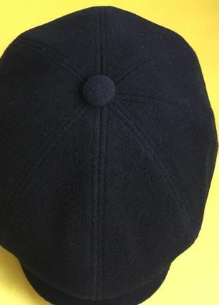 Кепка мужская чёрная восьмиклинка кашемировая новая