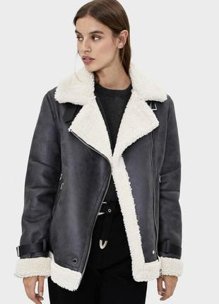 Куртка дубленка bershka