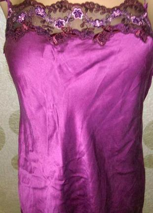 Шелковая блуза цвета марсала