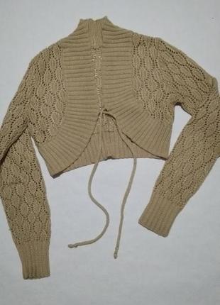 Болеро вязаное, ручной работы